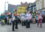 the Samba Band wake up the town of Uxbridge