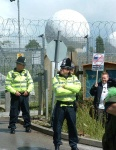 Fortress menwith, police, razor wire, video cameras - but still activists get in - there's always a way