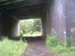 2. sludge under Kelbrook Road bridge, another problem area for its current unofficial use as a cycle/footpath