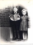 an East End of London childhood photo of a couple of friends of mine, Dave & Glor