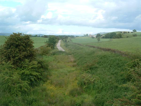3. view of the changing trackbed surface just north-east of Church lane bridge
