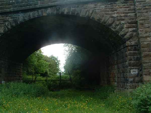 4. looking south-west under Church lane bridge