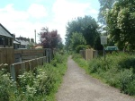 after a few terraced streets I get onto the old railway track by Salterforth Road in Earby