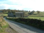 then after the very steep start to Cob Lane, I catch my breath as I come to a slight ledge by this farm