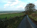 the view back from the top part of the climb, one and a half miles in all - it's wonderful going the other way!