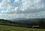 looking towards Pendle from near the top of Cob Lane