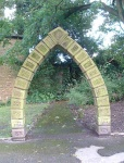 4. where is this odd-looking arch?