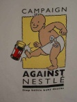 the long-running Campaign against Nestl� - t-shirt available from Baby Milk Action - For more on their campaign click here