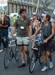 two of the many cyclists now involved in protesting