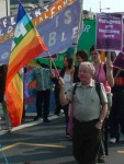 I love bright colours and so even without its message the Peace Flag would be right up my street; with its message it's doubly so. You can get them from Pax Christi at a reasonable price of £6