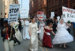 the march I was on started from Whitworth Park - this march from the Gay Village joined up with us on Oxford Road