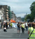 turning the corner at the west end of Princes Street