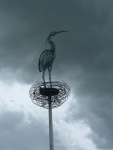 bird on a pole on route 75 south-east of Glasgow