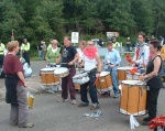 the roundabout at the North Gate is a perfect setting for a band