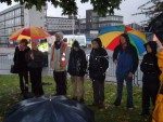 part of the closing ceremony - we left after 4 hours of heavy rain and 11 arrests