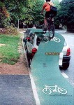 what we'd all like to be able to do when cars park on cycle lanes