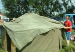 covering the roof - & look (the beauty of the yurt), no guy ropes to trip over!