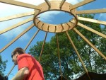 the yurt roof structure
