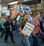 'boycott Israel' was one of the calls of the march