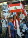 people demonstrated their anger, hurt and sadness at the events in the Lebanon but there was (and should be) time for the occasional smile between friends