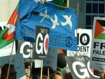 I liked this banner from Bath CND, simple and effective