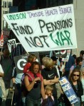 one of the many needs the money currently spent on arms and war could fund instead: pensions