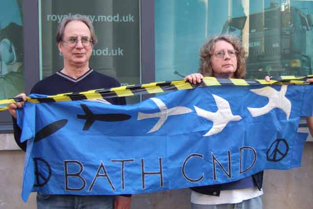 Amonst other groups present, Bath CND