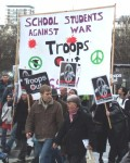 I & others went on Aldermaston marches while still at school but since the invasion of Iraq school students are taking more coordinated action as a group