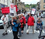 No Trident placards carried by East Lancs CND