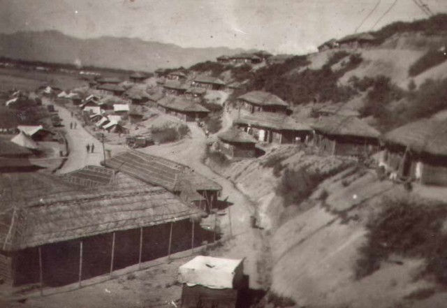 Sentinel Hill Camp, Tulihal,                                                                            India, near the Burmese border. Burma was also then part of the British Empire but had been invaded by Japan
