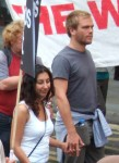 a young couple on the demo