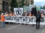the clear message, 'change policy not just leader'