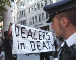 Once again, opening on September 11th of all days, the arms dealers were back in town, in London's Docklands with the full support of our government.