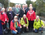 The Mayors of Pendle and Skipton with some of SELRAP's members. SELRAP stands for Skipton East Lancashire Rail Action Partnership and we now have 300 members