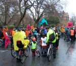 it was a dull damp cold day as we gathered at Lincoln Inn's Fields for the start of the Bike Ride