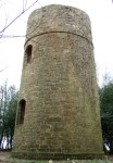 the back view of the Hermit's Tower which Fuller built a short distance to the east of the village of Brightling