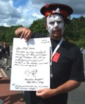 This time Arms Around the Base at Faslane Nuclear base on the Clyde 