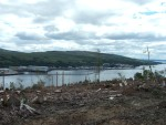 Faslane Nuclear base from the opposite side of the loch - the destruction in the foreground of this photo epitomises in a slight way how the world would look if these horrendous weapons ever go off either accidentally or intentionally