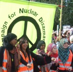 the CND banner at the front of the march