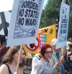 more no borders placards