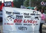 your bombs, our lives