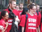 protesting airport expansion in Manchester, Heathrow & elsewhere in the UK
