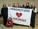 we were kindly hosted by The Warehouse in Reading, part of Wycliffe Baptist Church, and in the hall 'Grandmothers for Peace' posed for a photo