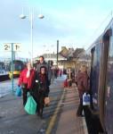 Passengers boarding at Skipton