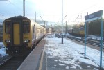 Our special train arriving at Skipton