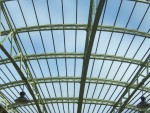 the glass roof