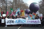 A huge turnout for this march to urge the G20 leaders that our future depends on creating an economy based on fair distribution of wealth, decent jobs for all and a low carbon world.