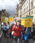 in Parliament Square a second march from Victoria joined the main march