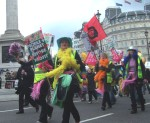 some colourful protesters