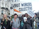 this group was bound to bring a smile to any onlooker, 'The Carrot Workers Collective'